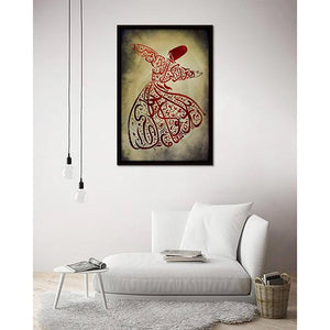 Calligraphy Tanoura Man on living room wall