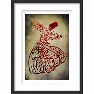 Framed Calligraphy Tanoura Man