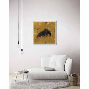 Bull II on living room wall