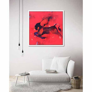 Flying Bull on living room wall