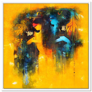 Framed Canvas Love and Happiness  - Shiva Parvati