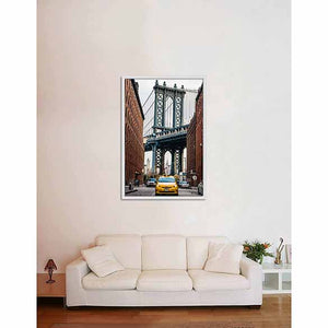 New York Dumbo on living room wall