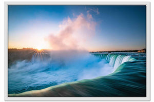Framed Canvas Niagra Falls