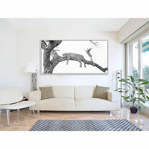 South Africa Leopard on living room wall