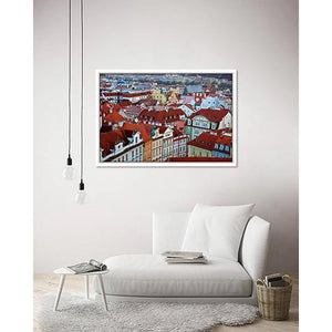 Over Old Town Prague on living room wall