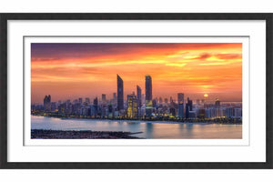 Framed Abu Dhabi Skyline
