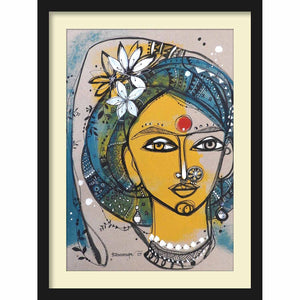 Framed Paper Bride in Turban 1