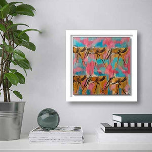 Camels Walk on living room wall