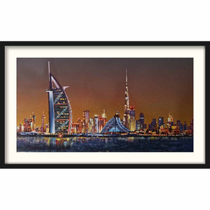 Framed Board Dubai Citynight