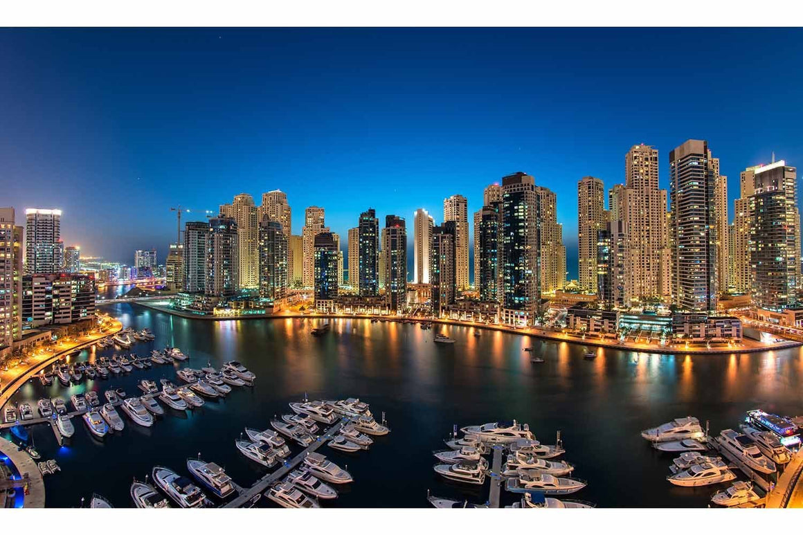 A New Night in Dubai Marina