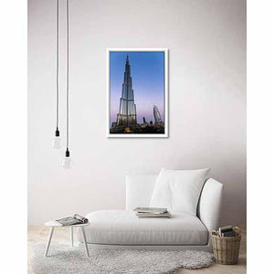 Burj Khalifa on living room wall