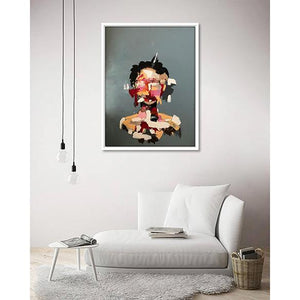 Des airs de Frida Kahlo on living room wall