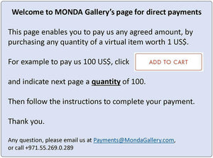 Direct sales - MONDA Gallery