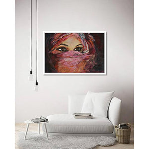 Desert Princess on living room wall