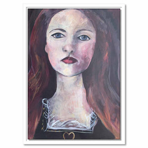 Framed Canvas A Pre-Raphaelite Lady