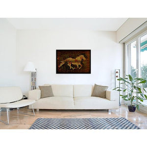 Galloping Horse II on living room wall