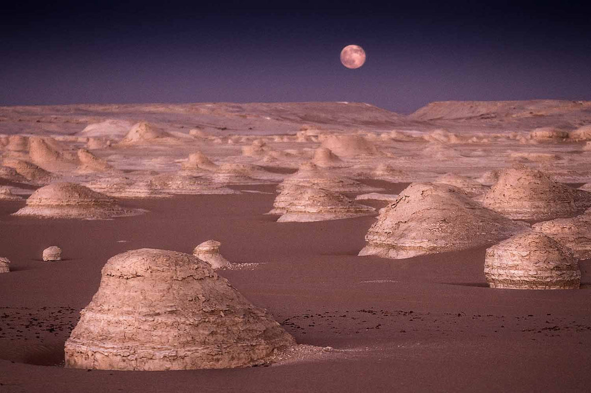 Moon on White Desert – Egypt