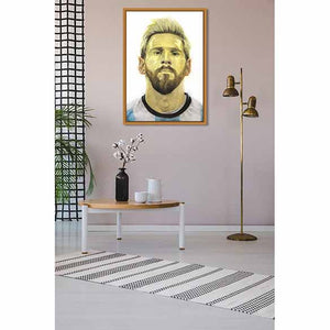 Messi on living room wall