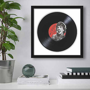 Mick Jagger on living room wall
