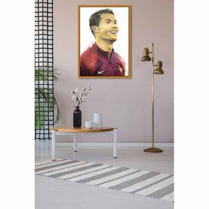Ronaldo on living room wall