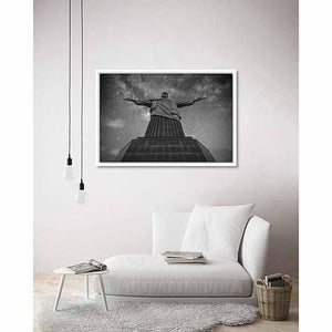 Cristo Redentor on living room wall