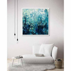 Blue Emotion on living room wall