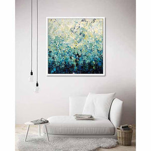 Blue Energy on living room wall