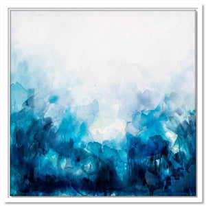 Framed Canvas Blue Wash II