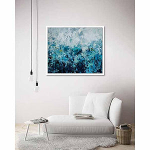 Memories of Blue on living room wall