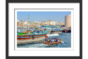 Framed Paper Dubai Creek