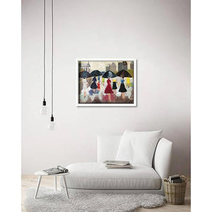 Promenade En Ville on living room wall