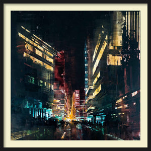 Framed Panel Kuala Lumpur Red Night I (low)