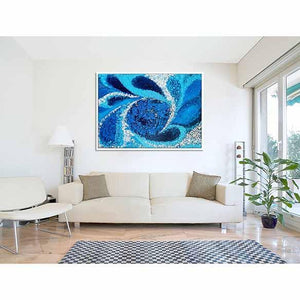 Cosmic Landscape on living room wall