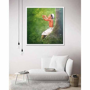 The Enchanted on living room wall