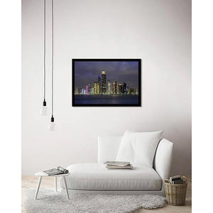 Abu Dhabi Corniche on living room wall