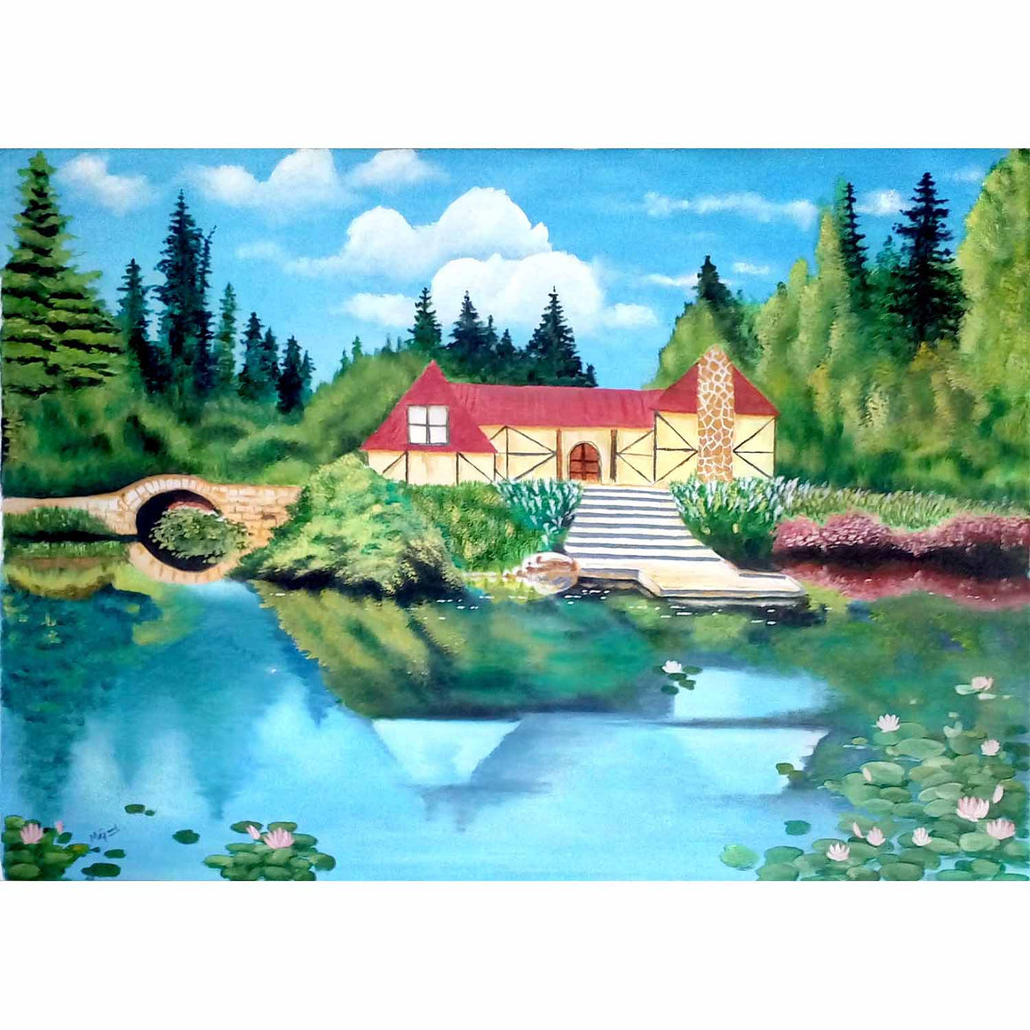 A Cottage beside a Pond