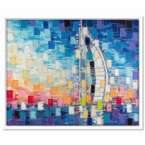 Framed Canvas Burj Al Arab (pixels)