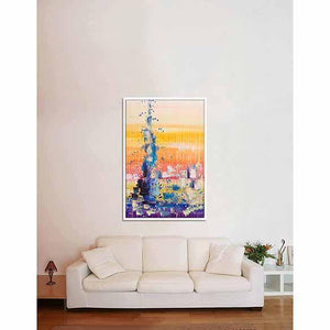 Burj Khalifa (blind) on living room wall