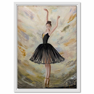 Framed Canvas Black Swan
