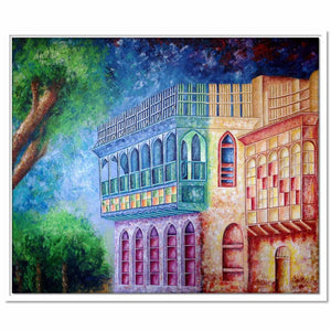 Framed Canvas Baghdadi House