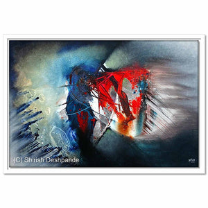 Framed Canvas Untitled 115