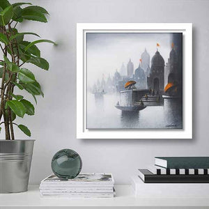 Holy Banaras 4 on living room wall
