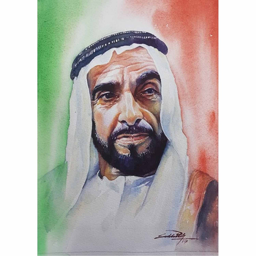 Portrait of Sheikh Zayed bin Sultan Al Nahyan