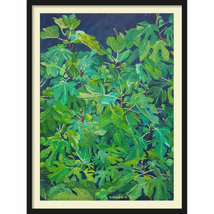 Framed Hardboard Fig Tree