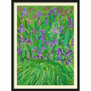 Framed Hardboard Irises from Kono