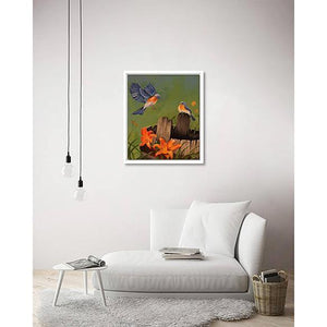 Gliding Beauty on living room wall