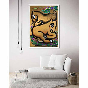 Resting Horse on living room wall