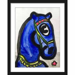 Framed Paper Untitled Horse I