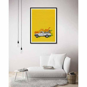 Camel Taxi One on living room wall