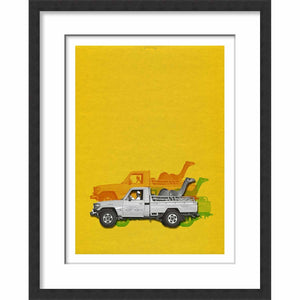 Framed Paper Camel Taxi One